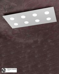 "Plafoniera ""Area R"" 8 luci grigio"