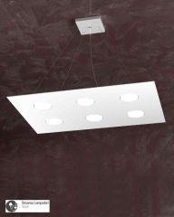 """Lampadario """"Area R"""" 6 luci bianco"""